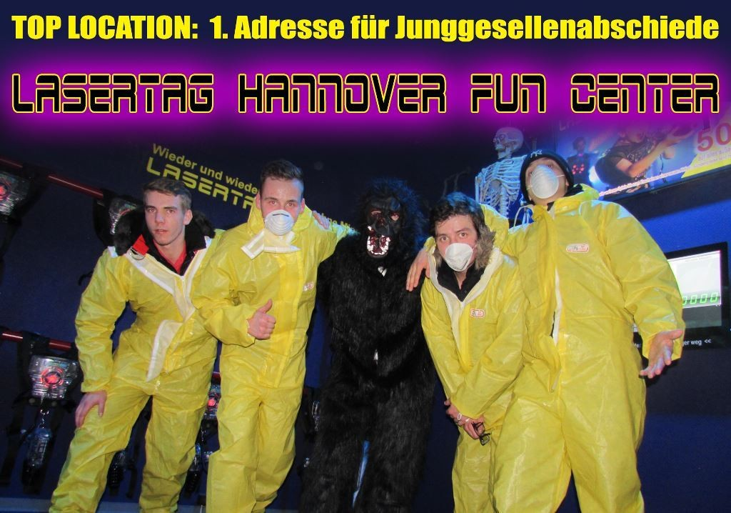 Die beste Party der 5 Jungs! Lasertag Hannover FUN Center.