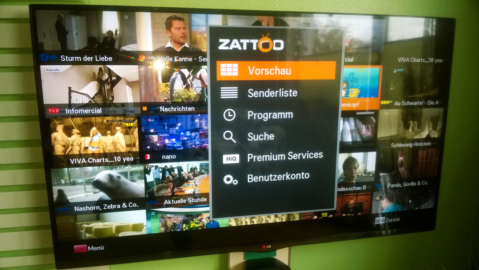DVB-T in Hannover Zattoo TV