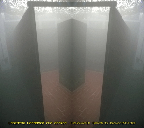 Lasertag Nebelraum