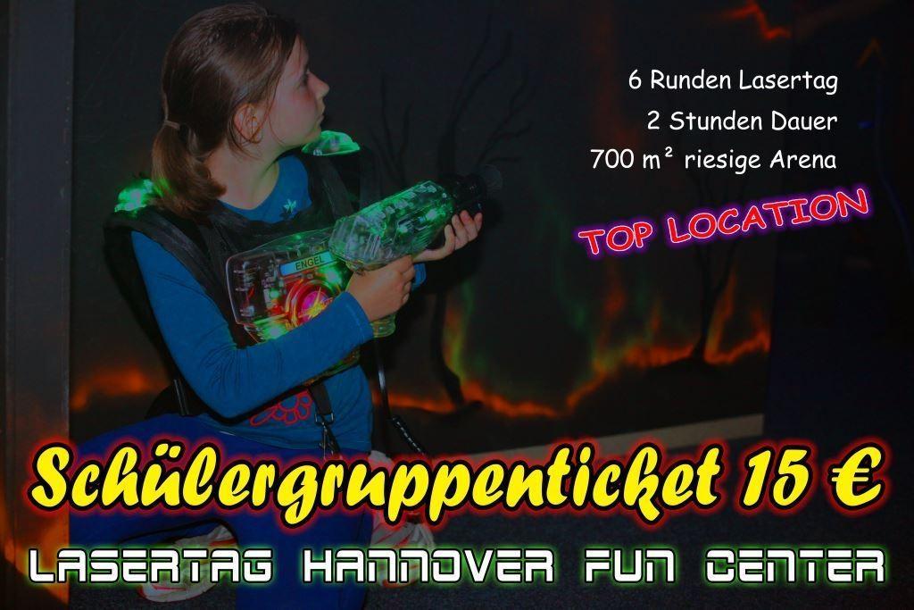 Lasertag Hannover Klassenfahrt Schülergruppenticket