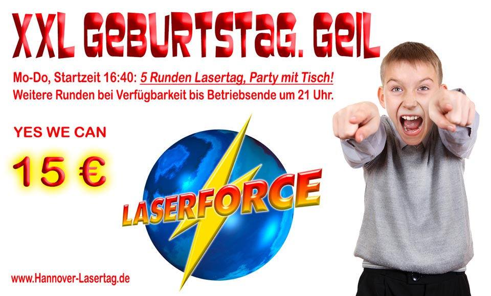 Geburtstagsparty Lasergame Garbsen Lasertag