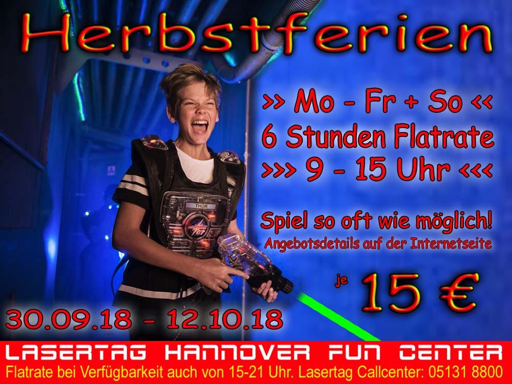 Lasertag Hannover Herbstferien