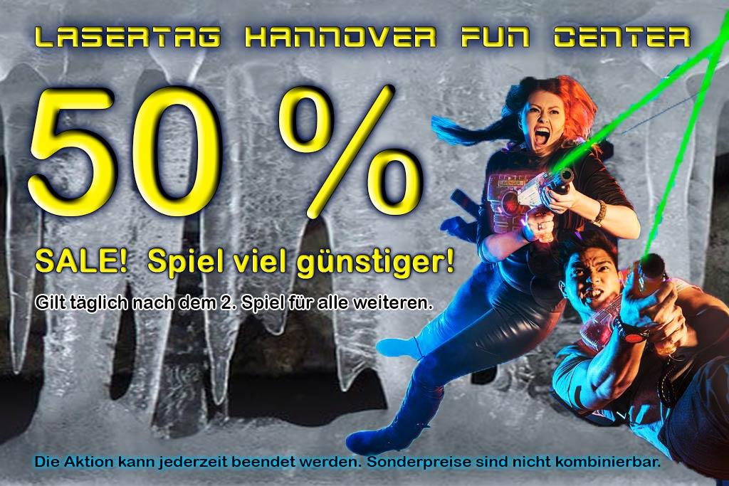 Lasertag Hannover Lasertag 50'% Gutschein Coupon