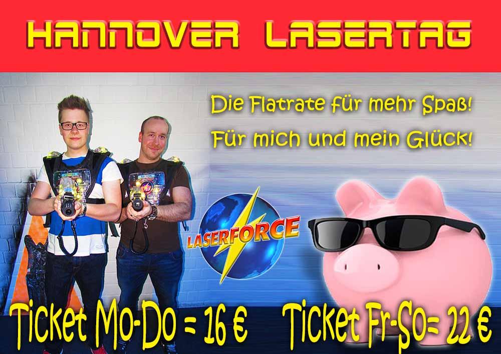 Lasertag Hannover Tageskarte Ticket