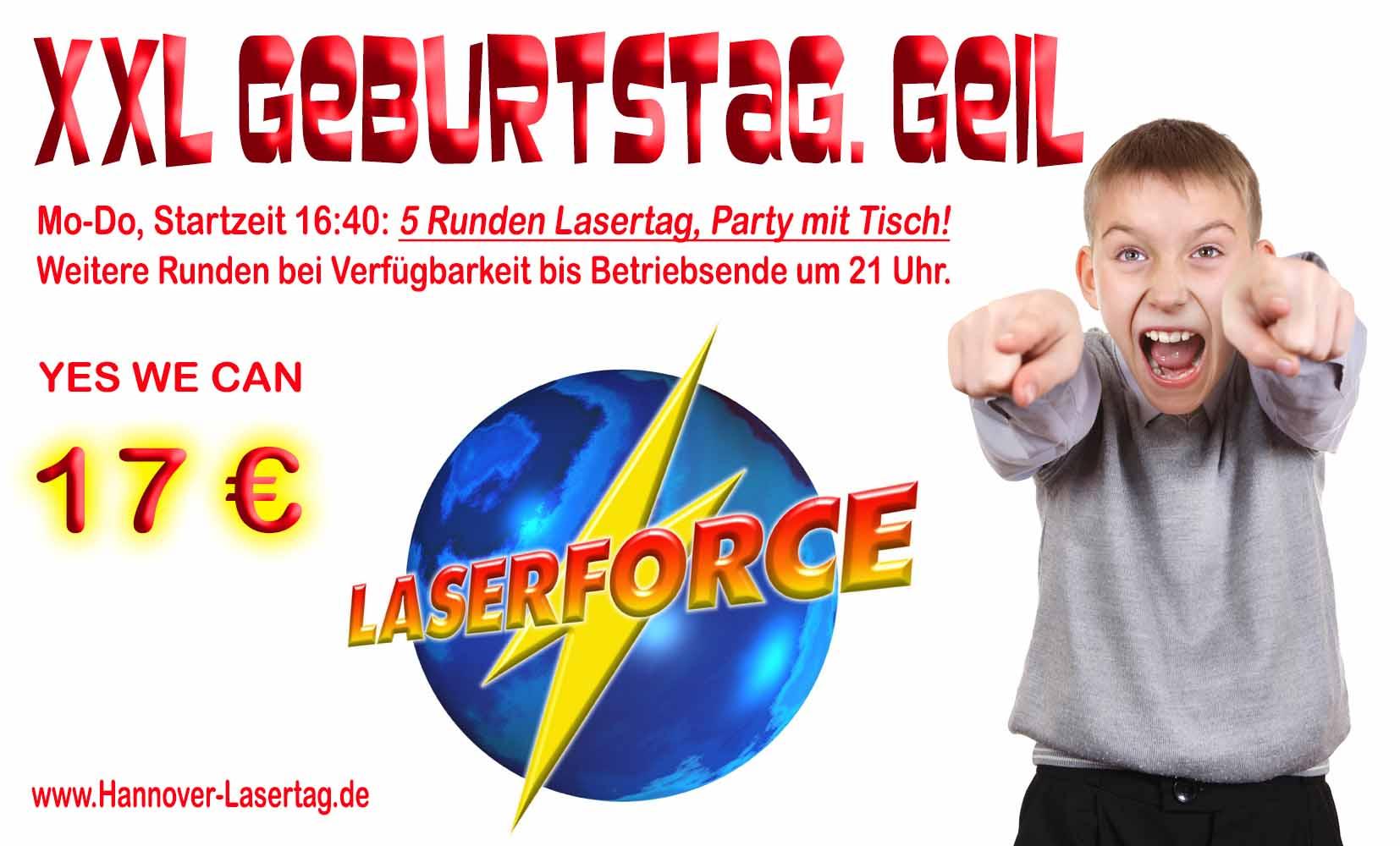 Lasertag Kindergeburtstag Lasergame XXL