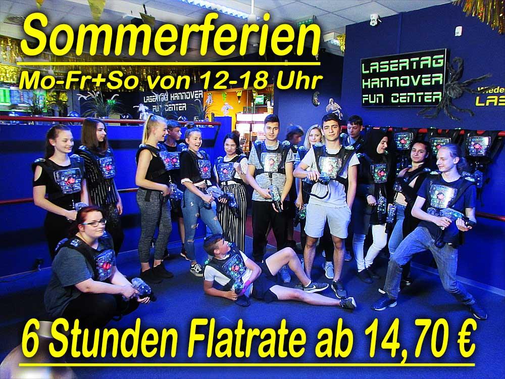 Lasertag Hannover Sommerferien